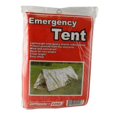 Emergency Shelter Tent, Reflective Tube Tent, Cold Weather Emergency Shelter, by Emergency Zone Brand - in package