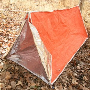 Emergency Shelter Tent, Reflective Tube Tent, Cold Weather Emergency Shelter, by Emergency Zone Brand